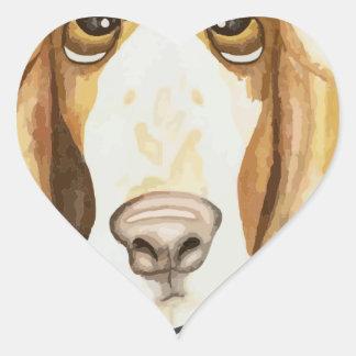 Shaming the Dog Basset Hound Heart Sticker