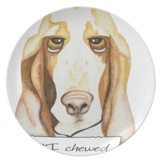 Shaming the Dog Basset Hound Plate