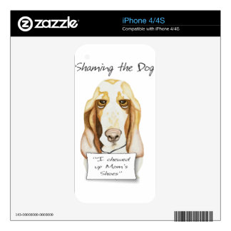 Shaming the Dog Basset Hound Skin For The iPhone 4S