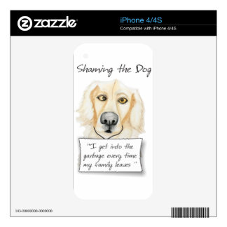 Shaming the Dog Golden Retriever Skins For The iPhone 4