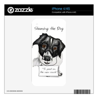Shaming the Dog Mutt Decal For iPhone 4