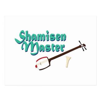 Shamisen Master Postcard