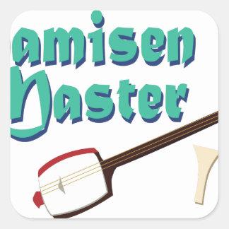 Shamisen Master Square Sticker