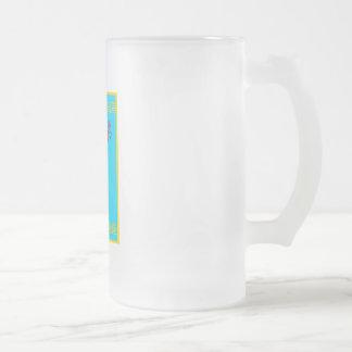shamisen 16 oz frosted glass beer mug