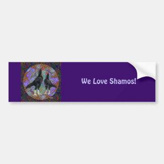 Shamo:  Black Pair Car Bumper Sticker