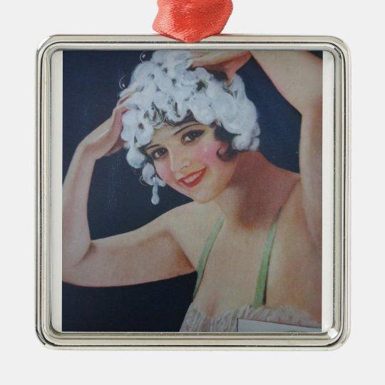 Shampoo Day Metal Ornament