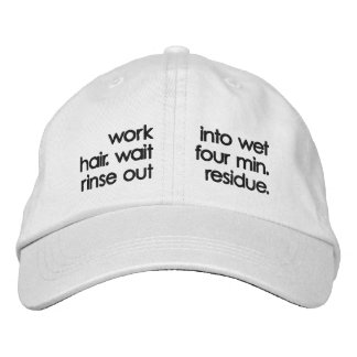 Shampoo Hat Embroidered Hats