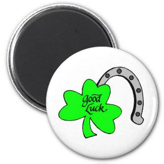 Shamrock%20-%20Good%20Luck 2 Inch Round Magnet