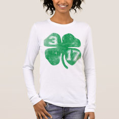 Shamrock 3/17 St Patricks Day Long Sleeve T-shirt at Zazzle