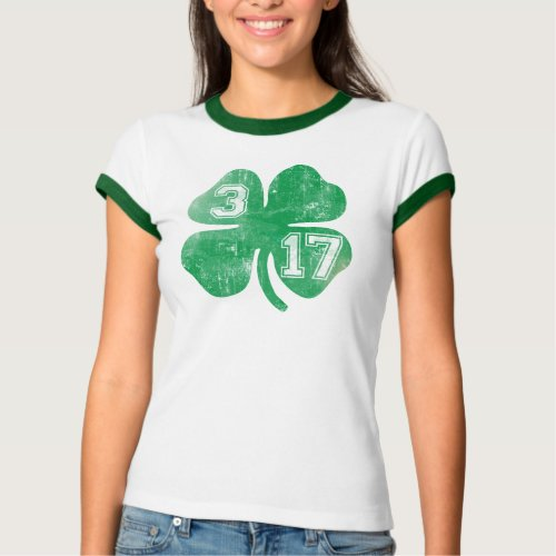 Shamrock 317 St Patricks Day T_Shirt