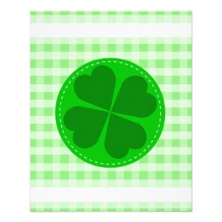 shamrock-48106. COUNTRY CLOVER GREEN CHECKERED PAT Flyer