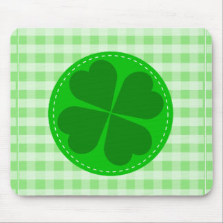 shamrock-48106. COUNTRY CLOVER GREEN CHECKERED PAT Mouse Pad