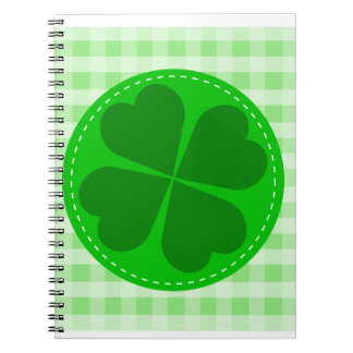 shamrock-48106. COUNTRY CLOVER GREEN CHECKERED PAT Notebook