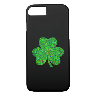 Shamrock Action Painting Art iPhone 7 Case