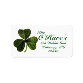 Shamrock Address Labels Custom