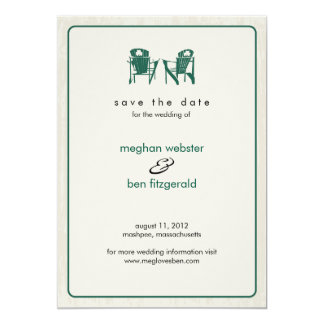 Shamrock Adirondack Chairs Save the Date Card
