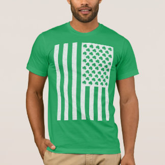 Shamrock American Flag St Patricks Day Shirts
