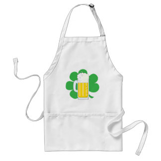Shamrock and Beer Adult Apron