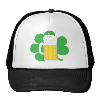 Shamrock and Beer Mesh Hat