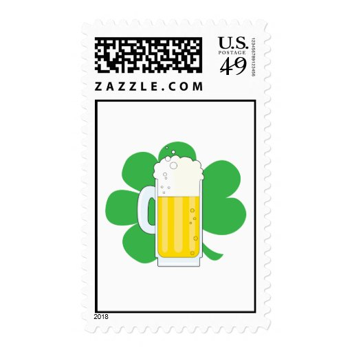 Shamrock and Beer Stamps