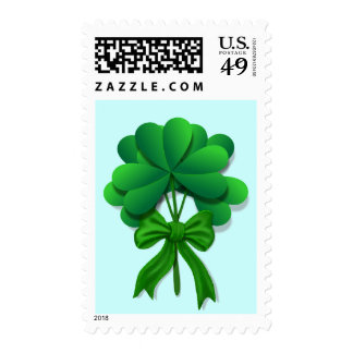 Shamrock and Bow Stamp