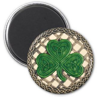 Shamrock And Celtic Knots Magnet Beige