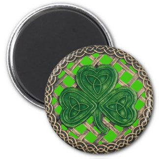 Shamrock And Celtic Knots Magnet Green
