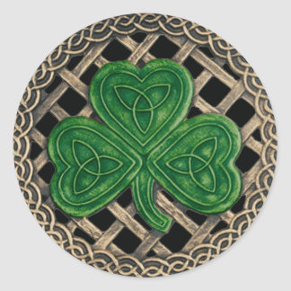 Shamrock And Celtic Knots Stickers Black