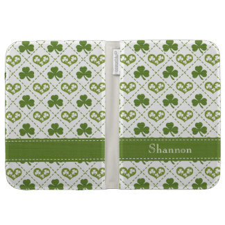Shamrock and Hearts Case For Kindle