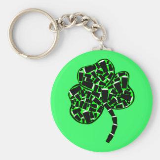 Shamrock and Irish beer Keychain