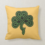 shamrock and irish blessing pillow