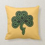 shamrock and irish blessing throw pillow