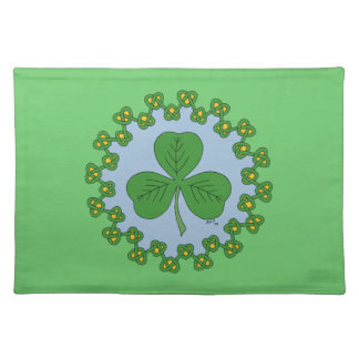 Shamrock and Knotwork (green) Placemat Cloth Placemat