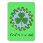 Shamrock and Knotwork Invitation