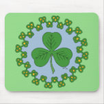 Shamrock and Knotwork Mouse Pad