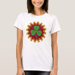 Shamrock and Knotwork on Red T-Shirt