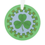 Shamrock and Knotwork Ornament