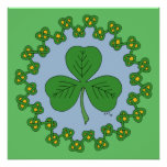 Shamrock and Knotwork Poster