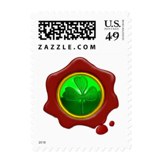 SHAMROCK AND  RED WAX SEAL POSTAGE