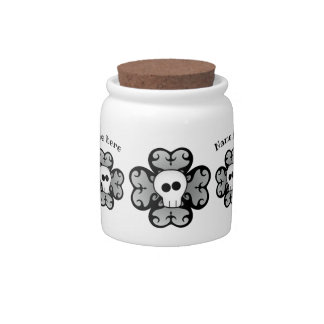 Shamrock and skull with your name candy dish