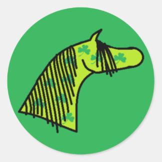Shamrock Arabian Round Sticker