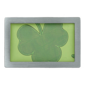 Shamrock Background Design2 Rectangular Belt Buckle