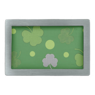 Shamrock Background Design3 Rectangular Belt Buckle