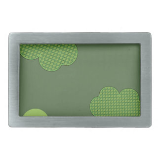 Shamrock Background Design Rectangular Belt Buckle