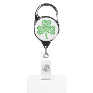 Shamrock Badge Holder