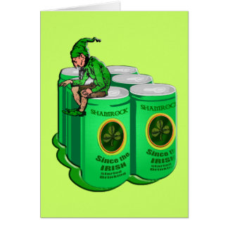 Shamrock Beer Since the Irish Started Drinking Card