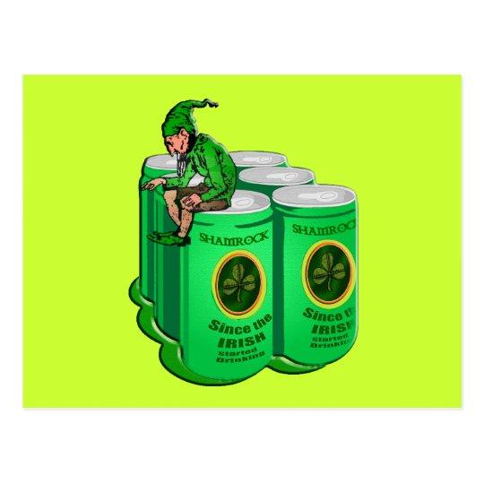 Shamrock Beer Since the Irish Started Drinking Postcard