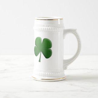 Shamrock Beer Stein Mug