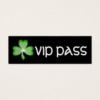 Shamrock Black 'VIP PASS' business card skinny