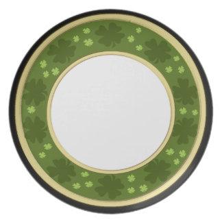 shamrock border plates